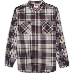 Levi's NWT Men's Seward Blue/Beige/Red Plaid Shirt